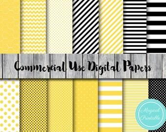 Bee Digital Paper, Honey bee, Bumble bee digital papers, Commercial Use, Nautical Scrapbook Digital Papers, Digital Background, DP28