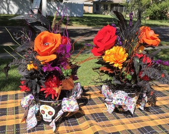sugar skull floral sugar skull decor day of the dead day of the