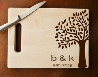 Custom Engraved Cutting Board, Personalized Cutting Board, Custom Personalized Wedding Gift, Housewarming Gift, Anniversary Gift, Custom