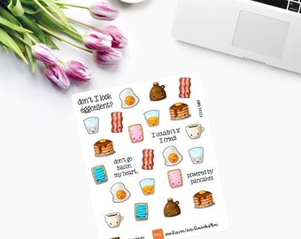 Kawaii Breakfast Planner Stickers CAM00126