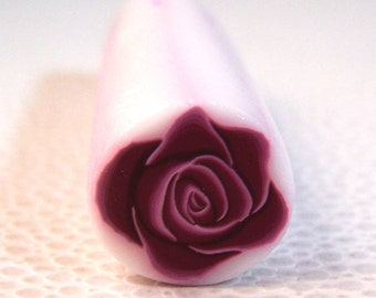 Rhododendron Red Rose Flower Cane / Polymer Clay
