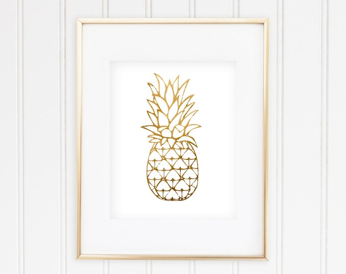 Goldish Pineapple - Real Foil