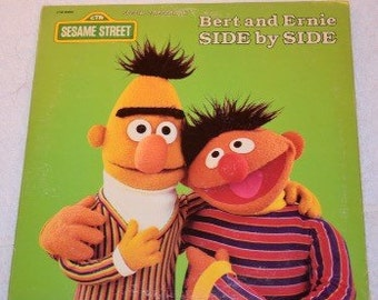 Bert and Ernie Side by Side LP Vinyl Record Album Sesame Street CTW 89004