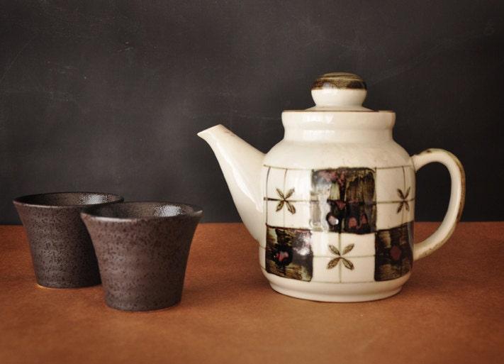 Unique Teapot Japanese Pottery Vintage Teapot By