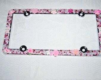 bling girly kawaii license plate cover