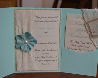 Pocket Fold Wedding Invite