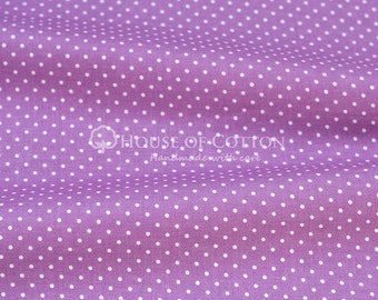 Orchid 2mm dots cotton fabric 0,5m