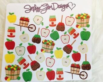 Autumn Apple Picking Stickers   Erin Condren & Plum Paper Planner