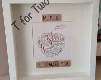 Teacher word art gifts