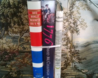 """HISTORICAL 3-BOOK SET: """"War Chronicles"""" Overlord D-Day and the Invasion of Europe, Washington Goes to War, 1776"""