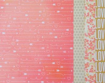 12x12 Love Theme Scrapbook Paper