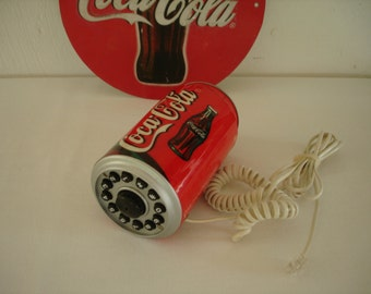 Vintage Coca Cola Can Shape Corded Telephone - Classic COCA COLA Can Shaped Telephone Phone