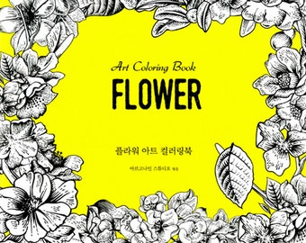 Flower Art Coloring Book For Adult Anti Stress Therapy By Argo9 Studio