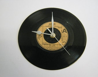 "Andy Gibb - ""(Our Love) Don't Throw It All Away"" Record Wall Clock"