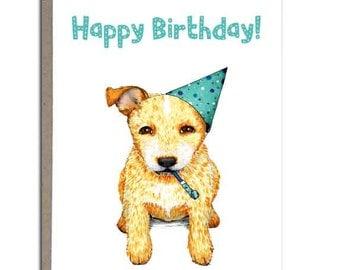 Australian Cattle Dog Birthday Card Blue Heeler Cattle Dog
