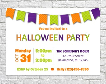 Halloween Invitation, Halloween Party Invitation, Costume Party Invitation, Pumpkin Invite, Fall Festival Invite PRINTABLE Halloween