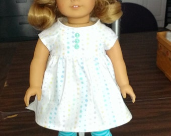 Casual outfit fits 18 inch American Girl Dolls