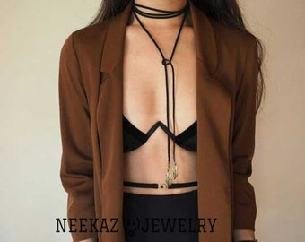 Vintage Handmade Gothic black Velvet necklace choker, Black Velvet Choker Necklace Ribbon Retro Vintage Gothic Goth Adjustable