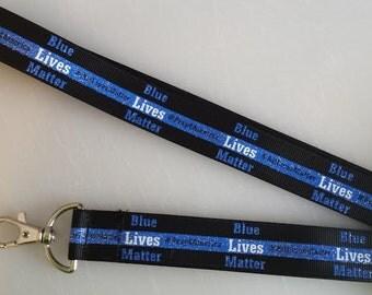 Police lanyard, Blue Lives Matter, #All Lives Matter, #Pray4America 21' lanyard