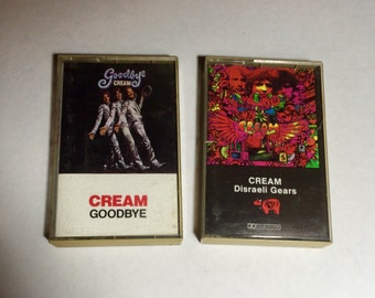Two Cream Albums Cassette Tapes Goodbye and Disraeli Gears