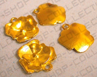Gold Tone Alloy Charms  Pendant Flowers  Trees