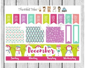 Freestyle Planning - December Monthly Kit - Funky Christmas - planner stickers