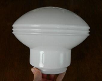 Vintage Glass Globe, Milk Glass Light Shade, Vintage Pendant Light, White Glass Shade, Art Deco Lighting, Hanging Light Shade