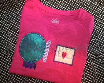 Valentine Blimp Applique Design
