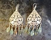 Labradorite Chandelier Earrings, Labradorite Earrings, Labradorite, Moss Aquamarine, Jewelry, Gift for Her, Hippie Earrings, Boho