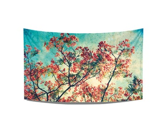 Red tree tea towel