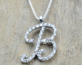Diamond necklace for girl, initial necklace, initial necklace for ladies, necklaces for women