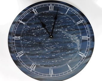 Wall Clock™ with Celestial design, Large Wall Clock, by Forever Me Gifts