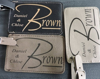 Mr & Mrs Luggage Tags, Mr and Mrs Gift for Wedding or Anniversary Gift ,  Set of 2, by Forever Me Gifts