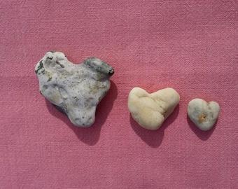Heart shaped rocks, Love rocks, Stone heart, pebble heart,