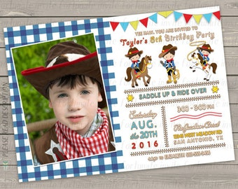 cowboy invitation, cowboy birthday invitation printable, western invitation, kids birthday party invitation digital or pinted invites