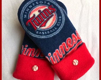Handmade Minnesota MN Twins Fleece Mittens