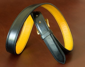 Hand stiched leather belt