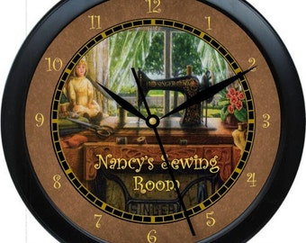Sewing Room 10.75 Personalized Wall Clock