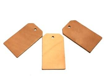 Leather Luggage Tags / Blank Luggage Tags / Set of Leather Tags / Blank Leather Tags / Leather Craft /Leather Embellishment /  SET OF THREE
