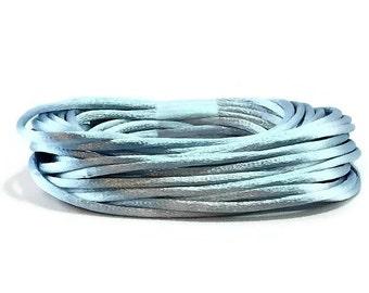 Light Blue Satin Rattail #2 / Light Blue Satin Cording / 3mm LIght Blue Cording / Blue Rattail/ Blue Cording / 20' Satin Cording