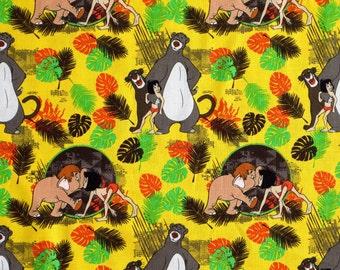 fat quarter JUNGLE BOOK DISNEY Classical Mowgli Baloo cotton fabric