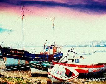 Art Print / Camaret 9705 / Photograph of a ship wreck (printing Digigraphie®)