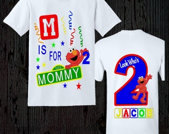 Elmo Birthday Mom Shirt