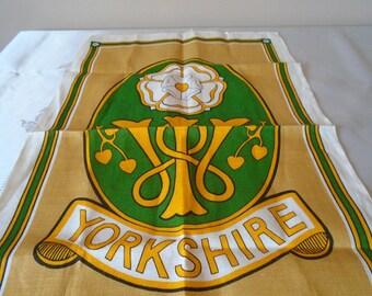 Yorkshire women's institute line tea towel
