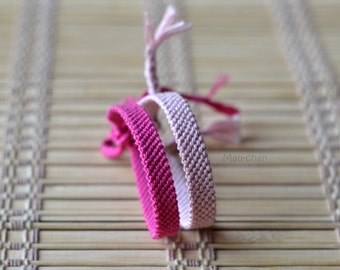 CUSTOM Solid Colour Woven Friendship Bracelet - Made To Order -