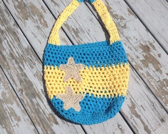 Beach bag, market tote, mermaid bag