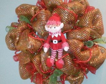 Christmas Wreath Elf