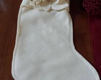 Floral Felt Christmas Stockings - How Elegant!