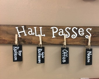 Classroom Sign - Classroom Decor - Classroom Decorations - Back to School - Hall Pass - Hall Pass Sign - Teachers Gift