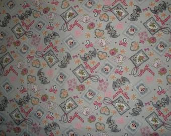 Romantic gray fabric